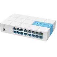 水星S116M 16口交换机家用桌面式以太网监控百兆交换器100M网线分线器网络分流器