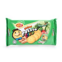 马来西亚进口休闲零食Win2赢赢蔬菜味薄饼干120g儿童宝宝零食