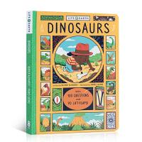英文原版 Life on Earth:Dinosaurs 恐龙 儿童阅读趣味科普纸板翻翻书 3-6岁幼儿撕不烂童书 地