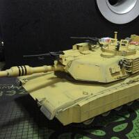 拼装模型 1/35坦克世界M1A1HA主战坦克 电动战车装甲车(需要自己拼装)