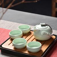 汉馨堂 茶具套装 茶具套装定窑整套陶瓷功夫茶具竹制陶瓷干泡茶盘茶壶茶杯套装