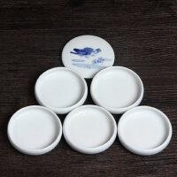 景德镇青花瓷手绘陶瓷国画用 五层调色盘毛笔墨碟墨盒文房用品