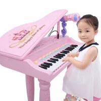 儿童电子琴初学可弹奏充电宝宝3-6周岁音乐玩具女孩钢琴话筒