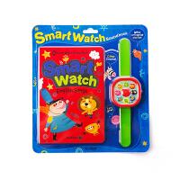 英文原版 Smart Watch儿童发声书蓝兔智能手表儿歌书 0-3-6岁幼儿认知书英文绘本 宝宝早教益智书籍 婴儿启