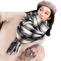 韩版新款围巾女士秋冬季百搭格子冬天披肩两用长加厚保暖