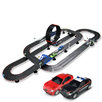 儿童遥控轨道车男孩竞技赛车轨道赛车玩具电动小汽车赛道
