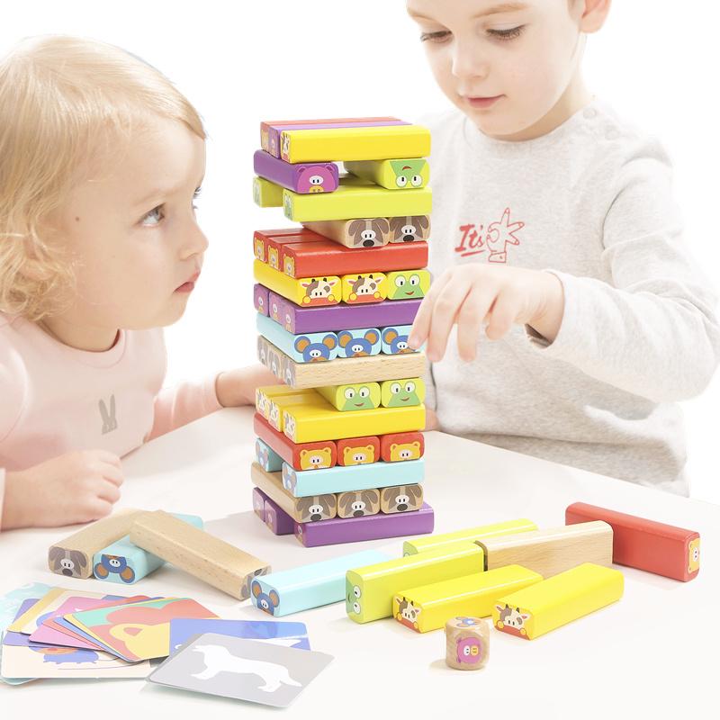 叠叠乐层层叠抽积木玩具3岁6儿童智力叠叠高积木抽抽乐