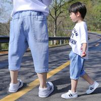 男童七分裤夏季新款宝宝中裤薄款小童裤子潮儿童牛仔短裤