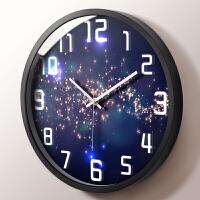 挂钟客厅创意卧室静音圆形现代个性时尚简约时钟石英钟表挂表