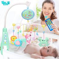 婴儿玩具0--6个月智力男女宝宝床头旋转摇铃音乐床头铃