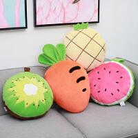 水果午睡枕头汽车护腰靠枕抱枕被子两用空调毯三合一