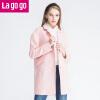 Lagogo冬装新款女装纯色女士毛呢外套秋冬呢子大衣中长款
