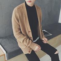 男士开衫外套学生针织潮男薄款毛衣