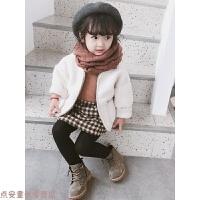 冬季女童装冬装新款羊羔绒儿童外套女宝宝小孩小童冬款开衫上衣1-6岁秋冬新款