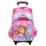 迪士尼 苏菲亚小学生女1-3-4年级双肩包 儿童拉杆书包 SS80019