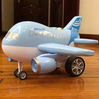 儿童玩具飞机惯性滑行仿真音乐小客机模型3-6周岁