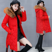 中长款加厚羽绒女2017冬季新款韩版修身chic棉袄原宿棉衣外套