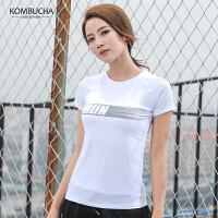 【满100减50/满200减100】Kombucha运动健身T恤2019新款女士速干透气吸湿排汗运动短袖上衣JCTX3