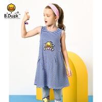 【3折价:98.7】B.duck小黄鸭童装女童针织无袖连衣裙 BF2180906