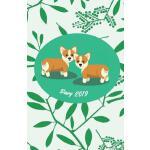 【预订】Diary 2019: Modern Botanical Cover Design with Corgi -