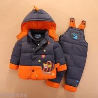 冬季男童女童儿童羽绒服套装半岁0-1-2-3宝宝婴儿冬装套装可开裆秋冬新款