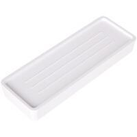 得力8908桌面收纳盒ABS材质简约时尚造型小号大号黑白两色天地盖
