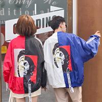 潮牌秋装韩版新款欧美高街小丑外套男女棒球服情侣装班服夹克衫潮