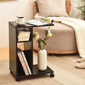 门扉 书柜 实木制沙发边柜边几小户型茶几可折叠沙发边柜边几小茶几可移动