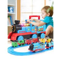 仿真小火车轨道套装玩具电动儿童男孩汽车合金模型益智多功能3岁6
