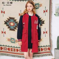 羊毛呢子茧型大衣秋冬季新款韩版原宿风学生中长款外套女加厚