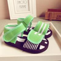 夏季童鞋小童男女宝宝手工儿童棉布凉鞋
