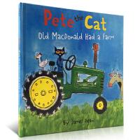 英文原版绘本 皮特猫老麦克的农场 Pete the Cat: Old MacDonald Had a Farm 精装廖