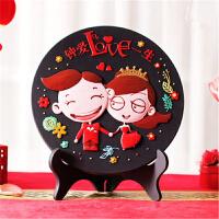 婚庆创意礼品结婚礼物送闺蜜新婚礼物新婚房活性炭雕书柜装饰摆件