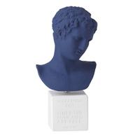 希腊进口马拉松男孩雕像石膏陶土家居装饰品艺术品人物摆件 午夜蓝 特大号45x23x21cm 白底