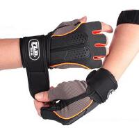 加长护腕半指健身手套男士女健身房运动手套哑铃训练防滑举重护具