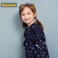 巴拉巴拉儿童春秋2018新款韩版童装女童休闲衬衫小童宝宝甜美衬衣