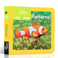 英文原版绘本纸板书 National Geographic Kids Look and Learn Patterns