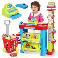 儿童过家家玩具套装仿真收银机玩具宝宝购物车带手推车玩具