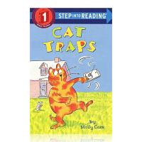 进口英文 猫的陷阱 兰登分级 step into reading一阶 Cat Traps