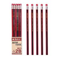 晨光(M&G)铅笔木质六角红黑2B/HB木头铅笔 2比小学生写字作业铅笔木杆绘画素描铅笔