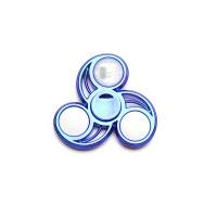 指尖陀螺仪发光儿童玩具手指上魔幻指间螺旋男孩减压神器带灯 72变电镀:蓝色(精装)