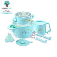 餐具辅食碗勺子叉子套装宝宝注水保温吸盘碗不锈钢婴幼儿童