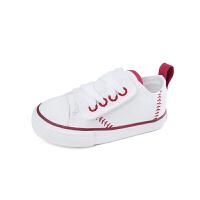 儿童帆布鞋 白色棒球童鞋男童板鞋女童小白鞋子