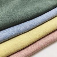 夏款彩棉�色短袖T恤男英��Tee �士日常修身打底衫百搭半袖
