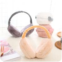 韩版保暖耳罩便携折叠女冬季耳套日系创意可爱毛绒暖耳包耳捂耳
