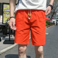 夏季中国风亚麻短裤男士2018新款宽松运动大裤衩夏天沙滩五分裤男