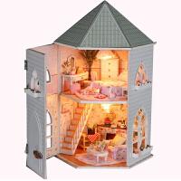 手工制作DIY小屋 爱情堡垒手工拼装建筑房子模型玩具别墅情人节生日礼物女