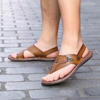 卡帝乐鳄鱼男鞋夏季新款男士凉鞋夹趾人字拖鞋沙滩凉拖鞋两用韩版