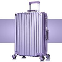 拉杆箱万向轮24寸女皮箱子旅行箱包男26寸韩版密码箱2022寸行李箱 复古款()
