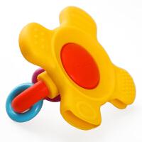 贝亲婴儿牙胶摇铃玩具宝宝磨牙棒咬咬胶固齿口腔训练器3-6-12个月